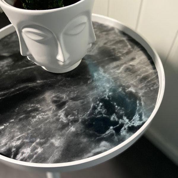 Bilde av Marmor romeo sort/sølv kontaktplast