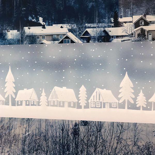 Bilde av Limited Static Winter town vindusfolie