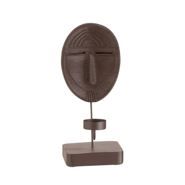 Bilde av Maske telysholder, brun