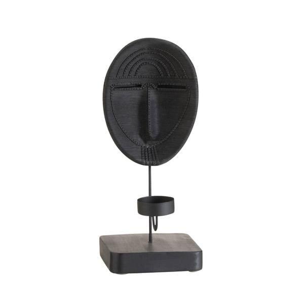 Bilde av Maske telysholder, svart
