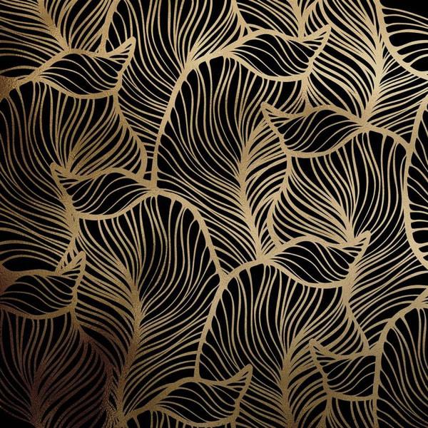 Bilde av Baana leaves gold dark kontaktplast