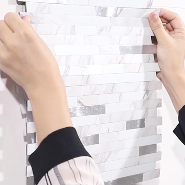 Bilde av Vareprøve: Marmor selvklebende veggfliser