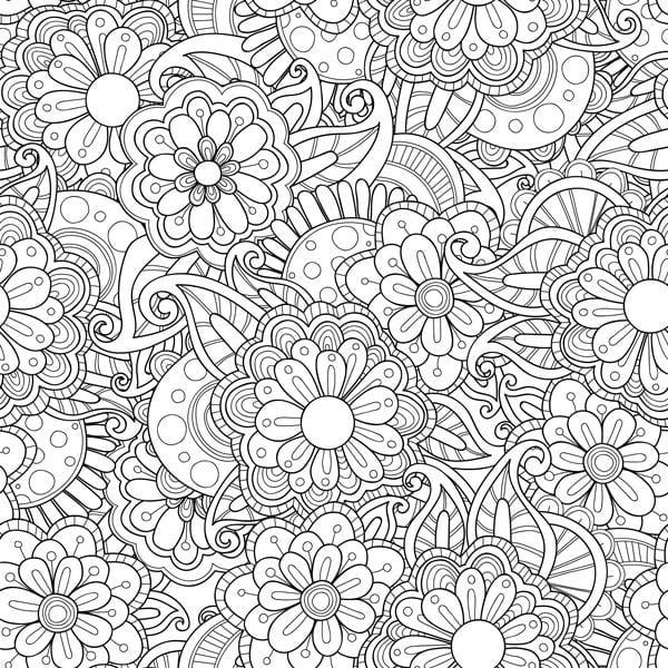 Bilde av Blomster fargeleggingsfolie