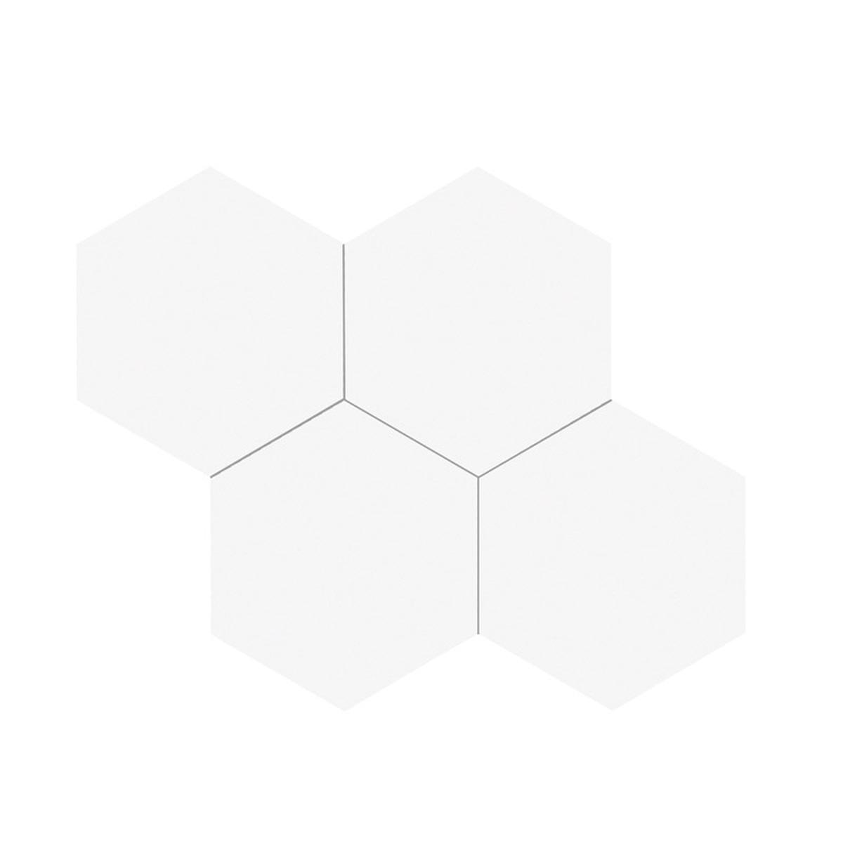 Stein Hexagon XL hvit selvklebende veggfliser