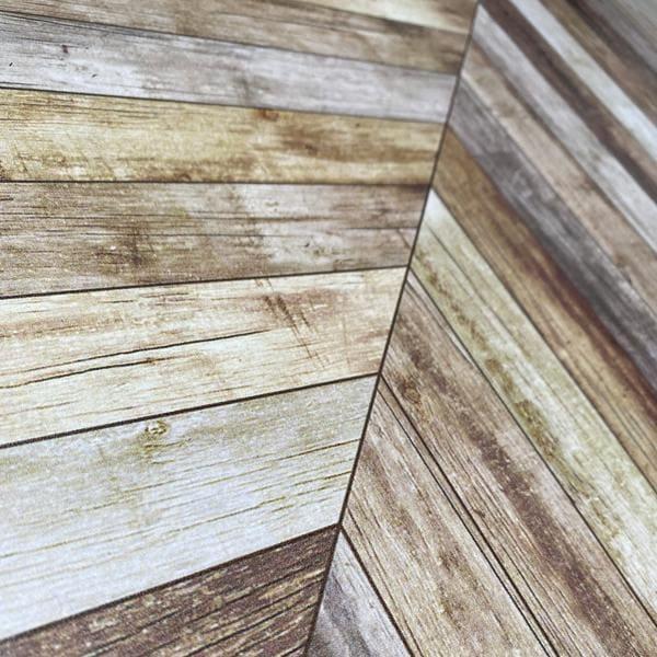 Bilde av Vareprøve: Treverk Fiskebein brun kontaktplast