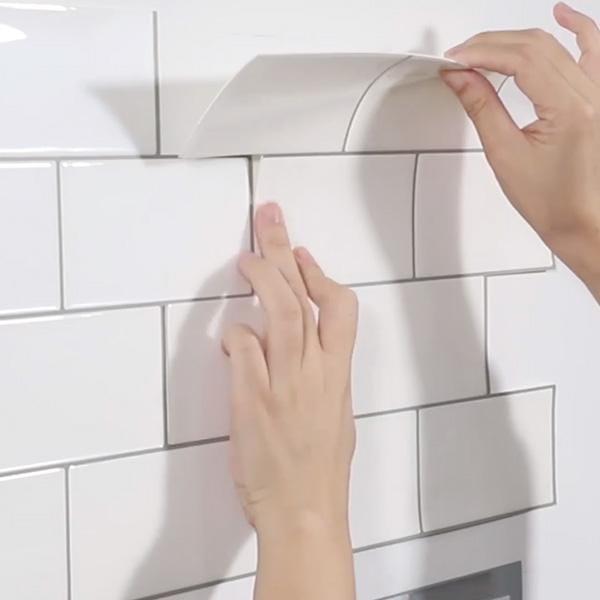 Bilde av Subway hvit selvklebende veggfliser