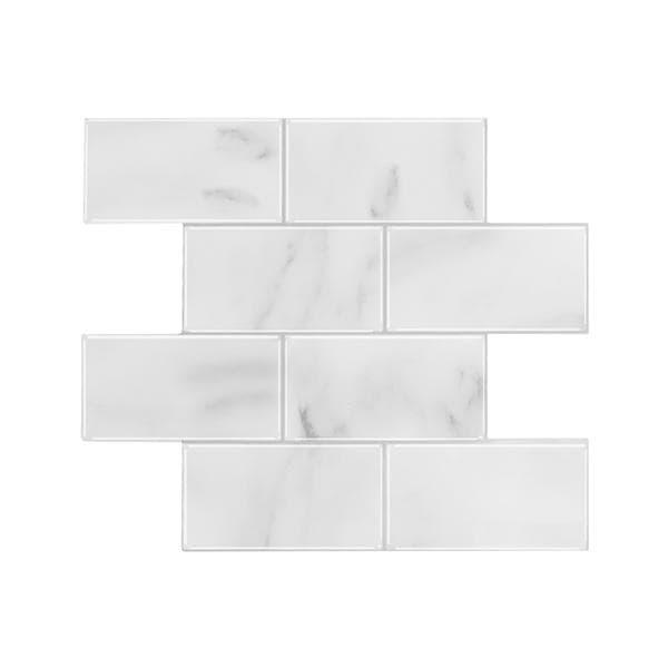Bilde av Subway marmor selvklebende veggfliser