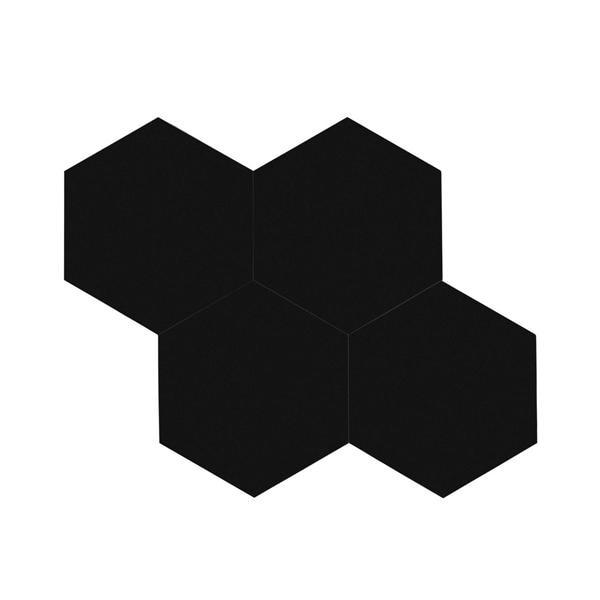 Bilde av Vareprøve: Stein hexagon XL sort selvklebende veggfliser