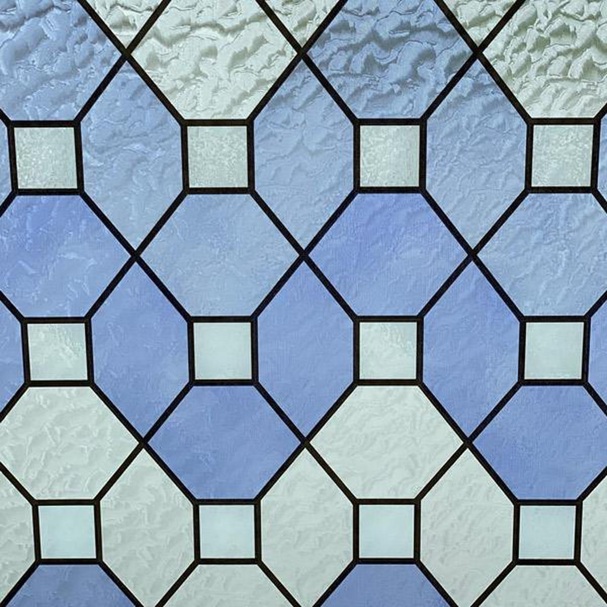 Vareprøve: Static Farget glass blå vindusfolie