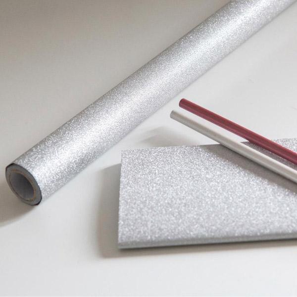 Bilde av Glitter sølv kontaktplast