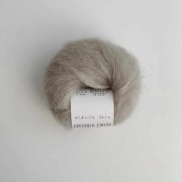 Mist (grey) Kidsilk Lace - GREGORIA FIBERS