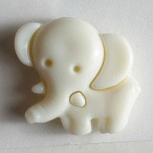 Bilde av Figurknapp, Elefant Hvit