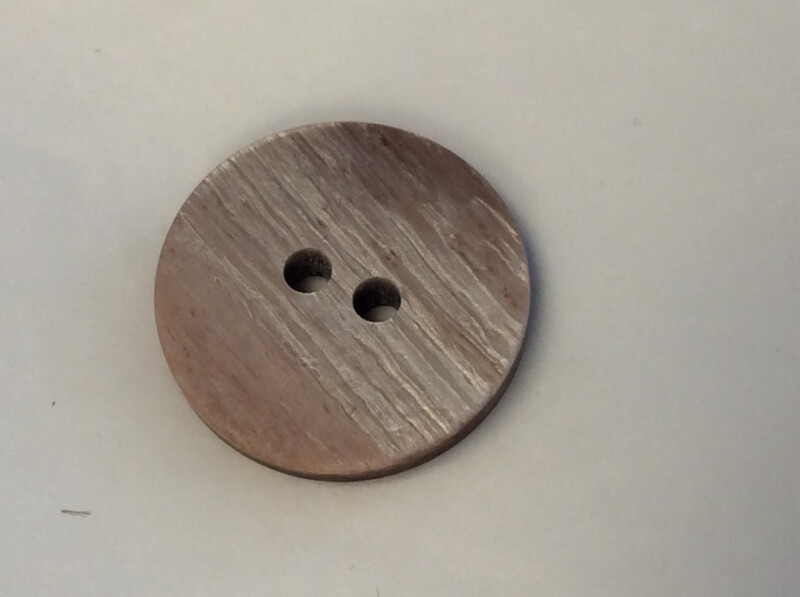 Brun blank knapp 18mm