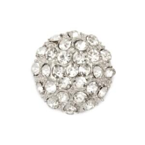 Bilde av Knapp metall/diamanter 23mm
