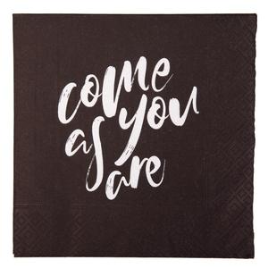 """Bilde av Serviett """"come as you are"""""""