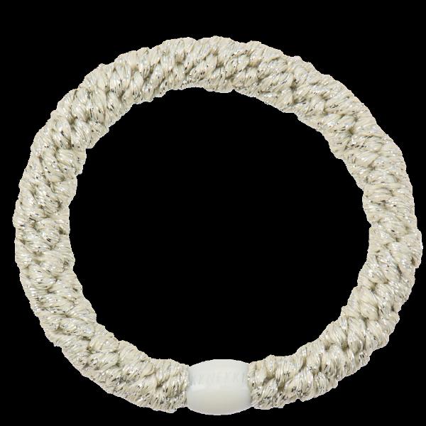 Ivory glitter - Kknekki hårstrikk fra Bondep