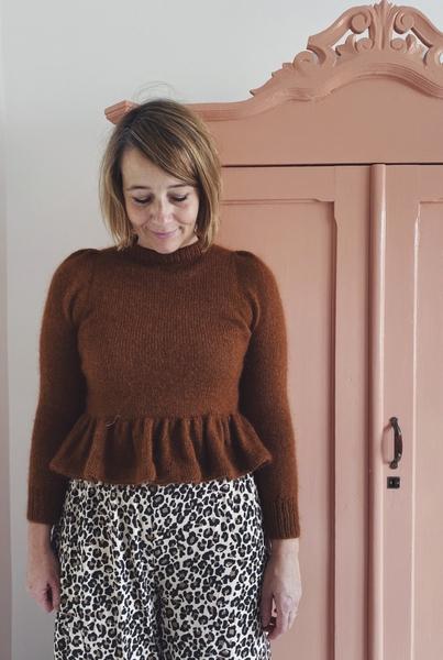 Peplum Sweater (norsk) Nordic knitting tale