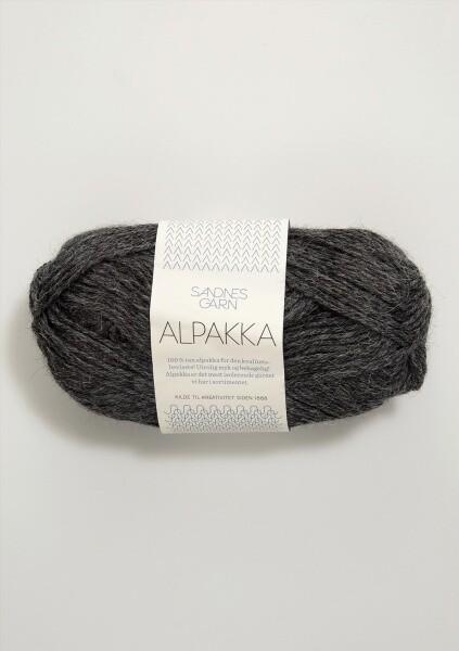 1053 Alpakka Mørk Gråmelert