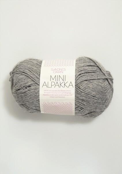 1042 Mini Alpakka Gråmelert