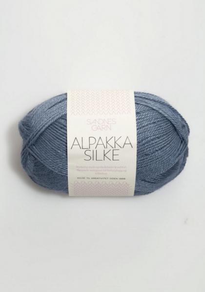 6052 AlpakkaSilke Jeansblå