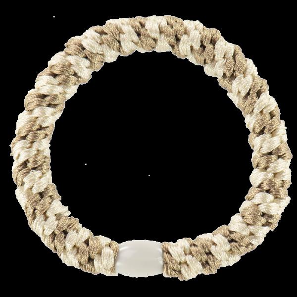 Mix Beige Ivory - Kknekki hårstrikk fra Bondep