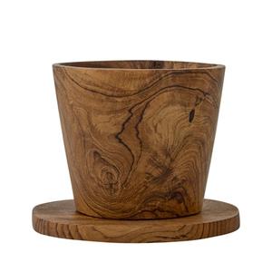 Bilde av Cup w/Coaster, Brun, Teak