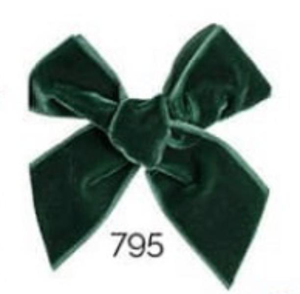 795 Mørk Grønn Velvet sløyfe Condor