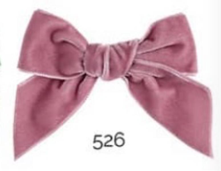 526 Rosa Velvet sløyfe Condor