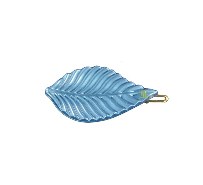 Leaf clip  Jeans blue gloss