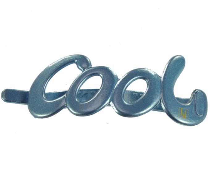 Cool clip 10cm Jeansblue glitter