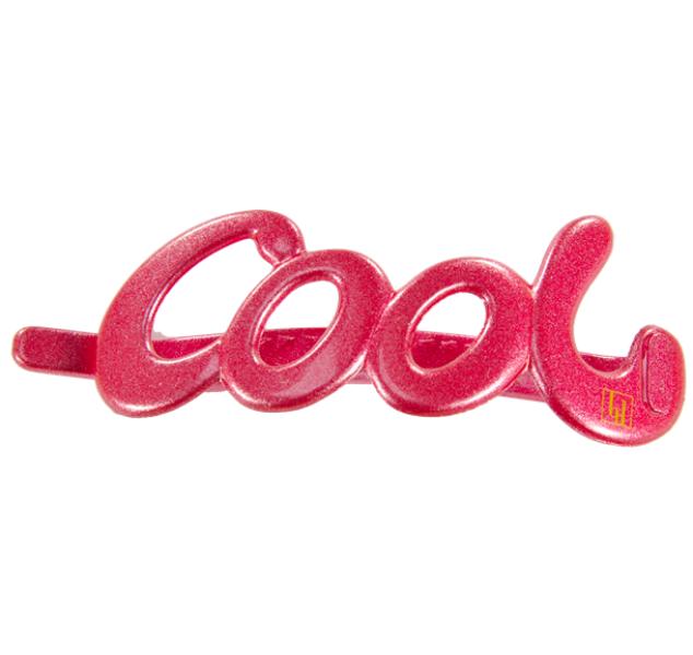Cool clip 10cm raspberry glitter