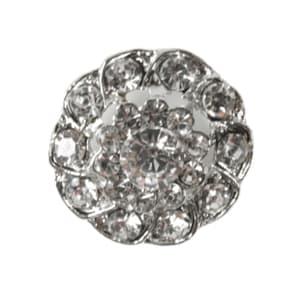 Bilde av Knapp metall/diamanter 26mm