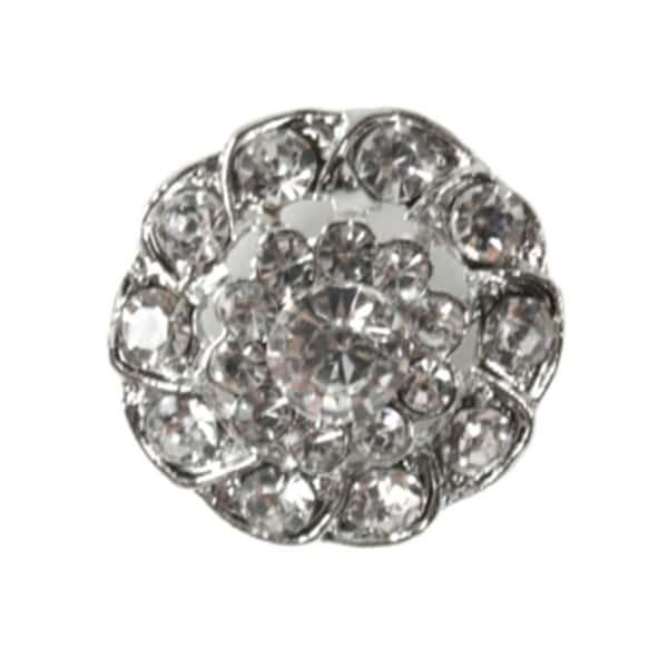 Knapp metall/diamanter 26mm