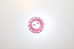 Bilde av Flettet knapp, rosa