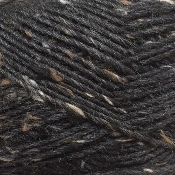 6999 Sort Lamatweed - Lama uld fra Camarose