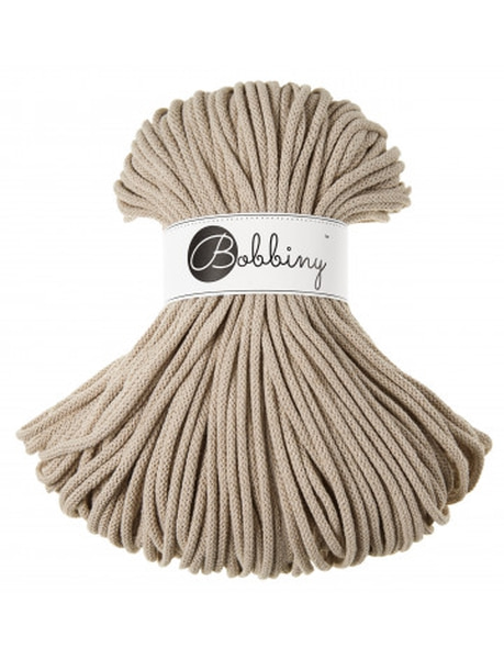 Beige Interiørgarn Cotton Cord 5 mm