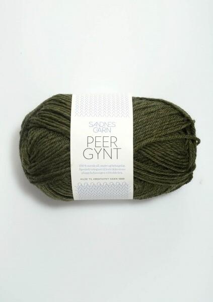 9572 PerGynt Mørk grønn melert