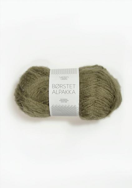 9554 Børstet Alpakka Mosegrønn