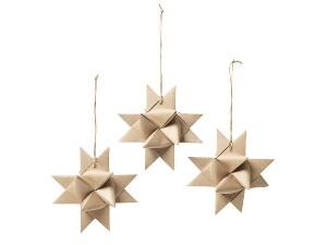 Bilde av Dekor 'STAR' papir naturlig
