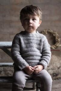 Bilde av No 169 Basic baby sweater i