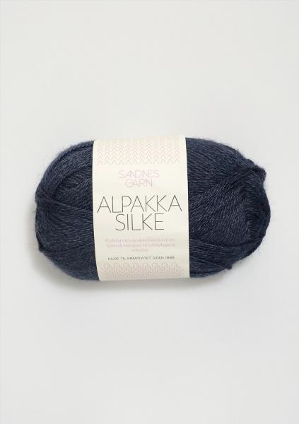 6081 AlpakkaSilke Dyp blå