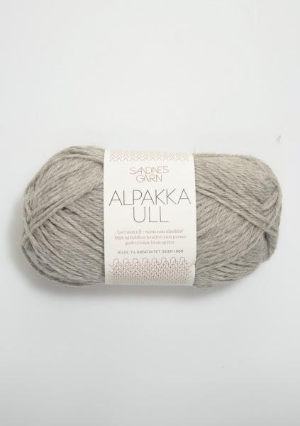 1042 AlpakkaUll Lys grå melert
