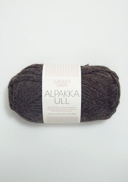 1053 AlpakkaUll Mørk grå melert