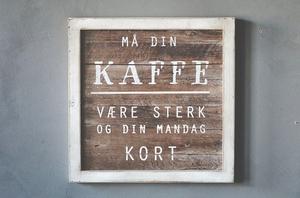 """Bilde av Treskilt """"kaffe"""""""