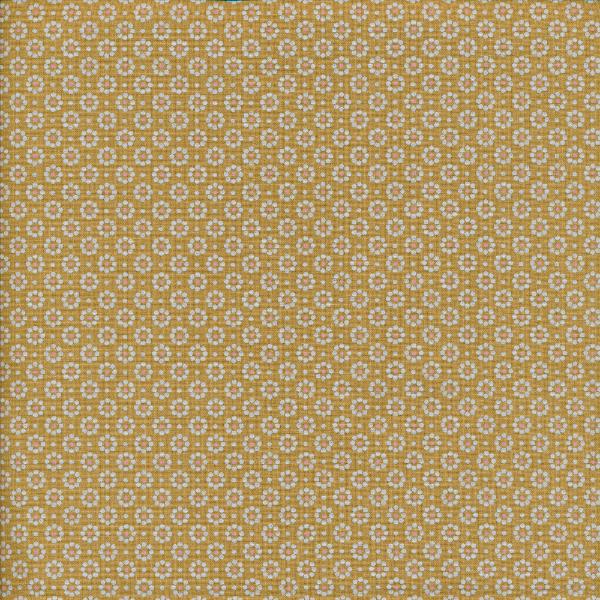 Belle Fleur Fabric Mustard voksduk