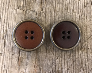Bilde av Skinn knapp, brun