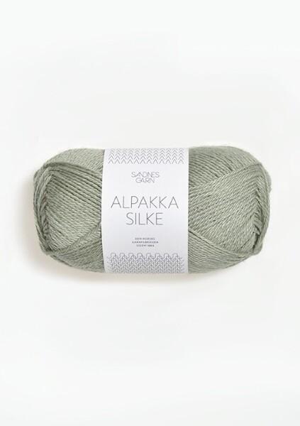 8521 AlpakkaSilke Støvet Lys Grønn