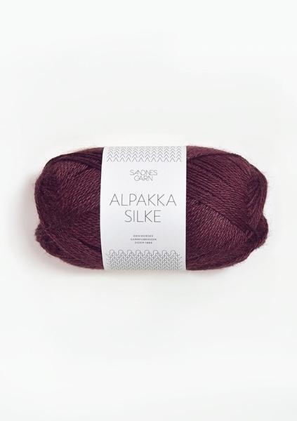 4372 AlpakkaSilke Dyp Burgunder
