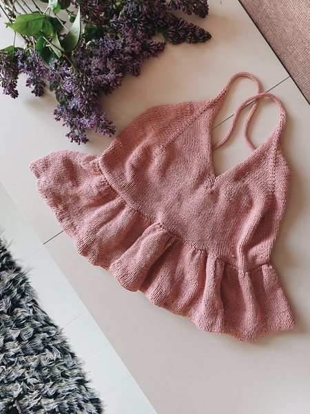 Palma Sommertopp (norsk) - a nordic knitting tale