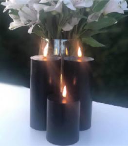 Bilde av Naturtro LED-kronelys, svart